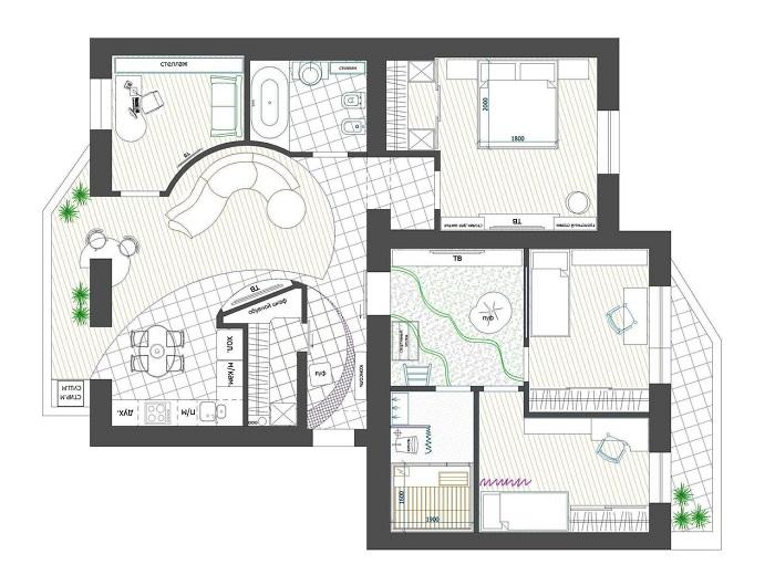 Особенности перепланировки многокомнатных квартир