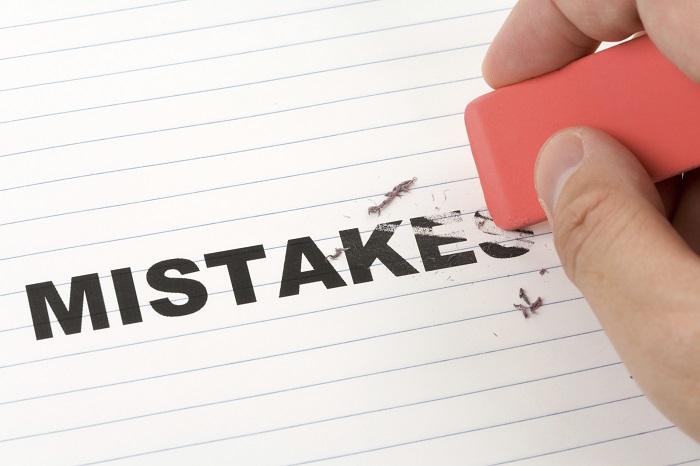Наиболее распространённые ошибки